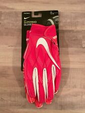 NIKE SUPERBAD FOOTBALL GLOVES /RECEIVER SZ XL PINK BREAST CANCER
