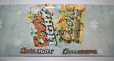 21+ Feet Christmas Coors Light Original Beer Plastic Roll Banner Sign ManCave