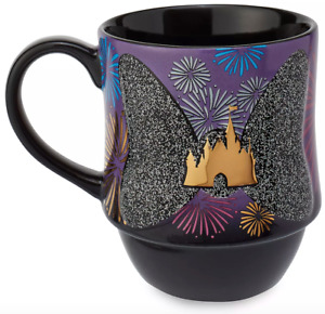 Disney Minnie Mouse The Main Attraction december Mug Nighttime castle fireworks