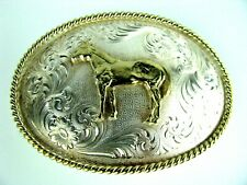 Montana Silversmith Silver Plated Belt Buckle Beautiful Standing Horse