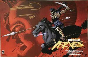 Frank Miller Alex Sinclair autographed autograph signed Xerxes 11x17 SDCC poster