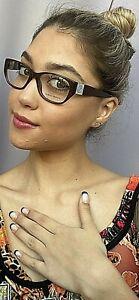 New Giorgio Armani AR Rx Brown Cats Eye Women's Eyeglasses Frame Italy