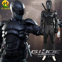 G I Joe Retaliation Snake Eyes Cosplay Costume Men Armor Suit Halloween Outfit