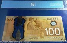 RADAR 4474744  - 2 Digit - 2011  Bank of Canada $100  Certified  Banknote