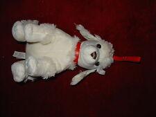 BEAUTIFUL WHITE PLUSH SOFT TOY POODLE DOG 3+