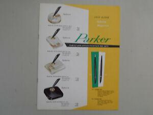 Parker Vintage l955 Color Desk Set Catalog--10 pages