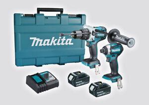 MAKITA DLX2176T 18V Cordless 2pc Hammer Drill Driver / Impact Driver Kit