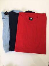 Softstyle Mens Crew NeckT–Shirt - Men's tops x3 Blue, Navy&red Size XXL