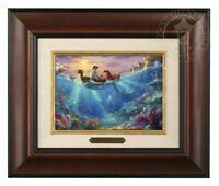 Thomas Kinkade Studios Little Mermaid Falling In Love Brushwork (Burl Frame)