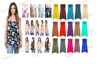 Ladies Plus Size Hanky Hem Womens Gathering Sleeveless Scoop Neck Vest Top 8-26