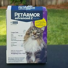 PetArmor Advanced 2 for LARGE  Cats 4 Monthly Applications Waterproof