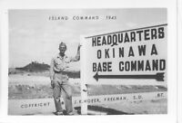1945 WWII USA  Okinawa  Photo  Island Command HQ Sign