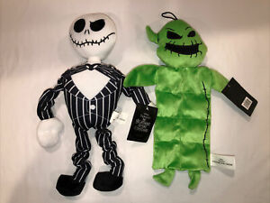 2Pc Nightmare Before Christmas Jack Dog Pet Toys Squeaker Stretch Oggie Boogie
