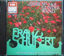 Günter WAND: SCHUBERT Symphony No.3 & 6 EMI DHM CD 1984 Gunter Sinfonien WDR