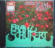Günter mur: SCHUBERT Symphony No. 3 & 6 EMI DHM CD 1984 Gunter Symphonies WDR