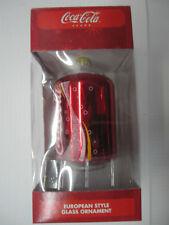 Coca Cola Ornament Can  - European Style Glass - NIP