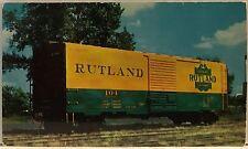 Original Vintage Railroad Postcard– Train– Boxcar PS-1- Rutland Railroad