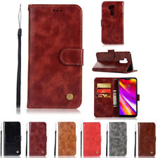 For LG G7 ThinQ Luxury Leather Magnetic Flip Card Slots Stand Wallet Phone Cover