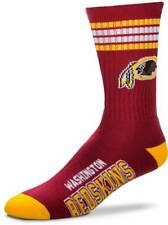 NEW! Washington Redskins NFL 4 Stripe Deuce Large Crew Socks Fits 10-13