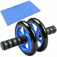 Ab Roller with Kneeling Mat Double Wheel Abdominal Wheel Fitness Equipment