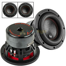 "2 Pack Audiopipe 6.5"" Subwoofers Dual 4 Ohm 500 Watts Max Audio Sub TXX-BDC4-6"