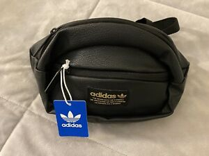 New Adidas Original National Waist Pack Fanny Pack Faux Leather Trefoil