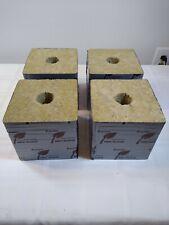 "(4) x Grodan Block Rockwool Cube with Hole - (4) x Size 6"" x 6"" x 6"""