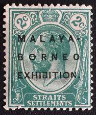 Malaya-Borneo Exhibition opt Straits Settlements KGV 2c MCCA MNG Oval O SG#241b