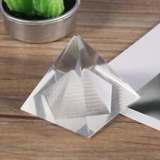 Crystal Pyramid Egypt Egyptian Clear Quartz Stone Orgone Healing Desk Decor Gift