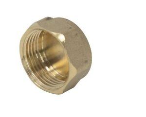 "Brass Female Blanking Cap - 1/2""  3/4"" 1""  & 22 mm  BSP - Blank Stop Cap"