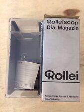 Rollei ROLLEISCOP Dia-MAGAZIN DIAPOSITIVE MAGAZINE NUOVO, scatola danneggiata (anni'80 STOCK)
