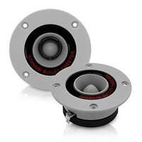 "3.25"" Car Audio Speaker Tweeter - 300 Watt High Power Aluminum Bullet Horn with"