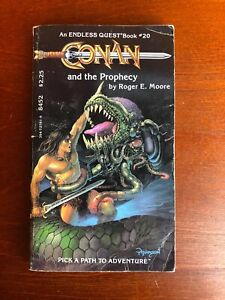 Endless Quest Book 20 Conan and the Prophecy CYOA D&D RPG TSR Adventure Gamebook