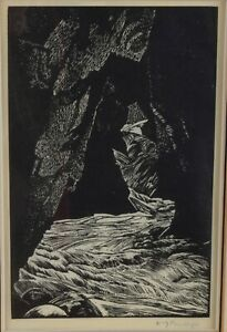 Walter Joseph (W.J.) Phillips The Source of the Bow Wood Engraving 1936 Signed