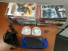 SONY PSP-2001 PLAYSTATION PORTABLE HANDHELD CONSOLE SYSTEM BUNDLE