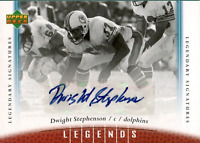 Dwight Stephenson Autographed 2006 Upper Deck Card
