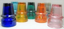 7 Assorted Colors 1911-1971 60th Anniversary Telephone Pioneers No. 1 Insulators