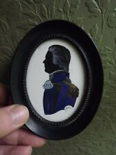 Phyllis Arnold Framed Signed Hand Drawn Painted Silhouette British Naval Costume