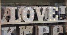 LED Holz-Buchstaben A bis Z, & und -Zahlen 0-9 weiß // Licht Hochzeit Geburtstag