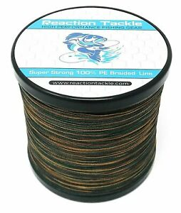 Reaction Tackle High Performance GREEN Camouflage Braided Fishing Line