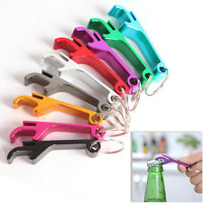 1X Bottle Opener Key Ring Chain Keyring Keychain Metal Beer Bar Tool Claw Gift