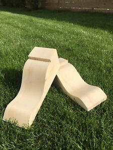 Wooden Corbels (Shelf Brackets) solid pine style A (1 pair)