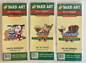 Yard Art Do-It-Yourself Wood Patterns Santa Train NEW