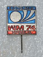 Germany WM 74 FIFA Football World Cup 1974 Yugoslavia Spain game pin badge