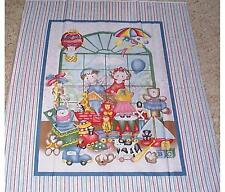 Toy Store Window Baby Juvenile Quilt top Panel Fabric 100% Cotton Nursery