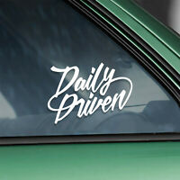 """Daily Driven"" lowered car vinyl sticker (stance drift jdm race bumper decal)"