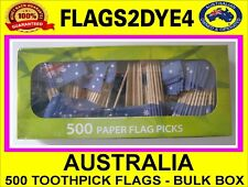 Australian flag Australia toothpicks tooth pick cooking cupcakes party 500 BULK
