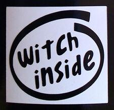 """de brujas dentro"" pegatinas Auto van parachoques ventana calcomanía 140mm X 153mm código 5108"