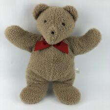 North American Bear Co Oatmeal Plush Teddy Bear Red Bow Tan Brown 2008