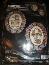 COUNTED CROSS STITCH POWDER ROOM PAIR